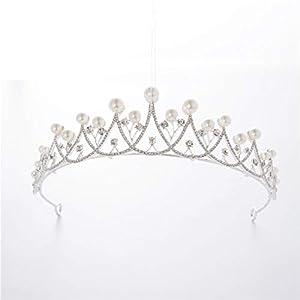 Hjayu Tiara Hochzeit Zubehör Braut Krone Prom Headwear Kristall Strass Luxus Kleid Zubehör Legierung