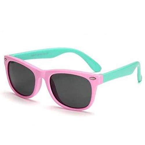 Boolavard Flexible Kinder Sonnenbrille Polarized Kind Baby Safety Coating Sonnenbrille UV400 Eyewear (Rosa Grün)