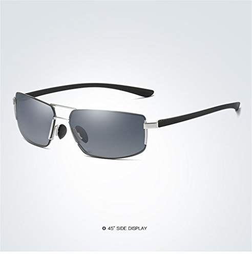 Shengjuanfeng Herren Rahmenlose Retro Sonnenbrille UV400 Platz Sonnenbrille Sonnenbrille, Heterosexuelle Kreis Brille Für Herren Accessoires (Color : Silver+Gray)