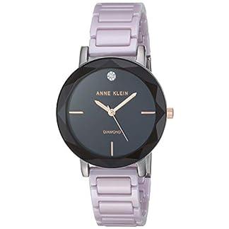 Anne Klein AK Reloj de Pulsera de cerámica con Detalles de Diamante para Mujer