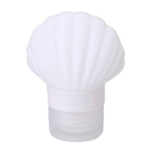 NEWSTARTS Silikon-Punkte, die kosmetischen Spielraum-Shampooflaschen-Duschgelextrusion tragbare Softshellphiolen-Flasche Lagerung abfüllen (Weiß)