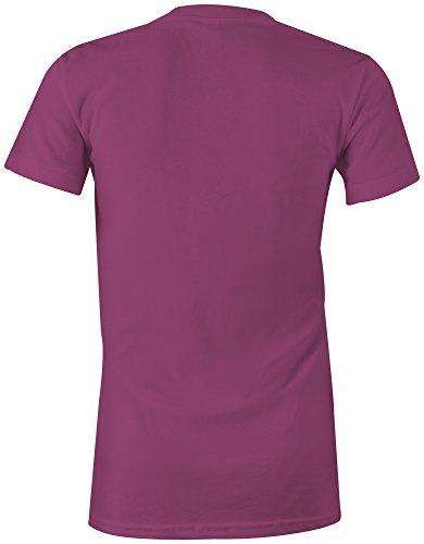 Bernhardiner Dog Like A Boss ★ Rundhals-T-Shirt Frauen-Damen ★ hochwertig bedruckt mit lustigem Spruch ★ Die perfekte Geschenk-Idee (07) pink