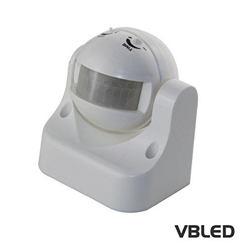 VBLED® PIR Sensor/Bewegungs-Melder 180° Infrarot bis 12m - Anschluss an 230V - LED Beleuchtung uvm -