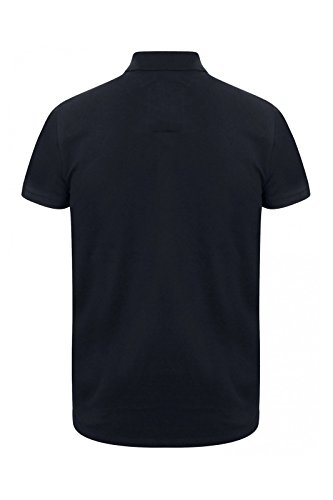 Tokyo Laundry Herren Blusen Poloshirt, Einfarbig Small dunkles marineblau