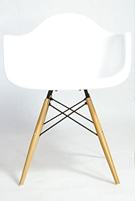Charles & Ray Eames Style Style DAW Eiffel Dining Lounge Chair (White) - cheap UK light shop.