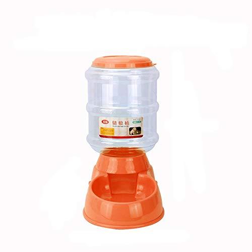 CAOQAO 3.5L Distributeur De Nourriture Distributeur Automatique Croquettes pour Chats Et Chiens,Pet Feeder pour Chien Et Chat (Automatic Feeder),Distributeur Eau Et Croquettes Automatique(,Orange)