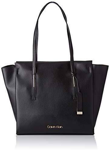 Calvin Klein Jeans Damen Frame Large Shopper Schultertasche, Schwarz (Black), 14x30x40 cm