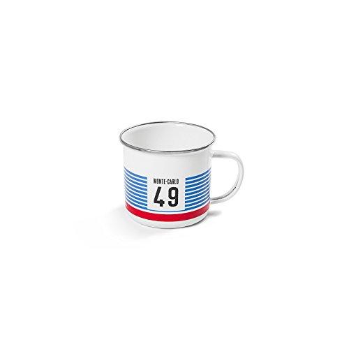 Monte-carlo-becher (Skoda AVF03-303 Metallbecher Monte Carlo Becher Tasse Getränkebecher, weiß)