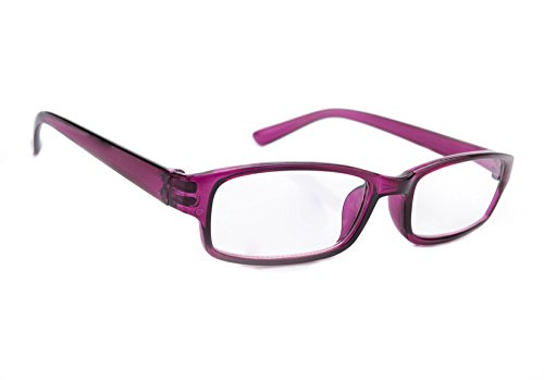 Slim Damen Herren Lesebrille +0.50 +0.75 +1.0 +1.5 +2.0 +2.5 Blue Light Filter Brille Blendschutz, Kratzfestes Objektiv Computer TV Anti Glare MFAZ Morefaz Ltd (+0.5, Purple)
