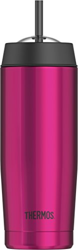 Thermos 4029.244.047 Isolierbecher Cold Cup, Magenta 0,47L Isolierbecher, Edelstahl, 7,6 x 7,6 x 24,0 cm