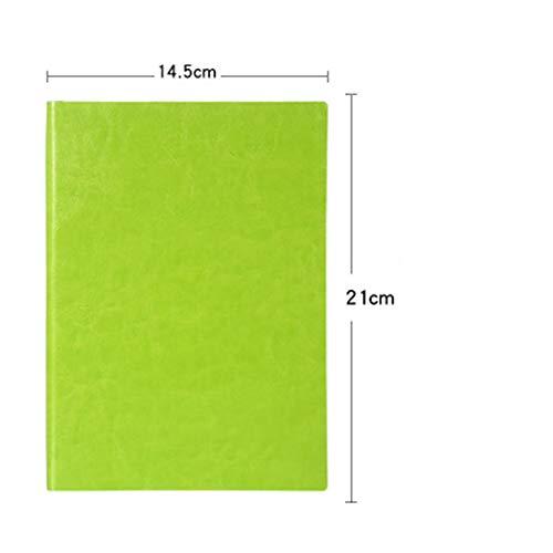Weiches Leder Retro Notebook - A5A6b5 Tagebuch - Liniertes Papier Dicker Notizblock 21X14.5CM - E-mail Umschläge, Kunststoff
