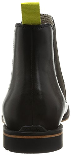 Clarks Gatley Top Herren Chelsea Boots Schwarz (Black Leather)