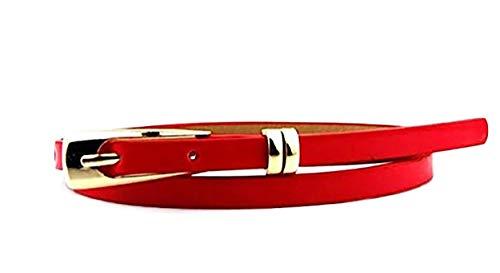 Sucre Belts Damen Gürtel mit Schnalle Gürtel Rot rot (Kardashian Roten Kleid Kim)