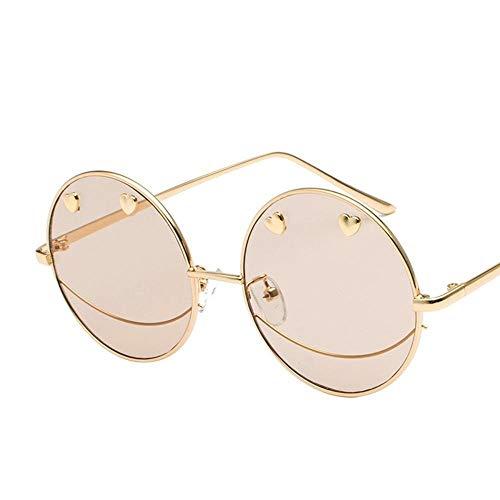 Mon5f Home Herren Sonnenbrillen Frauen Paar Sonnenbrillen Menschen Gelee Farbe Flache Brille Persönlichkeit Smiley Sonnenbrille