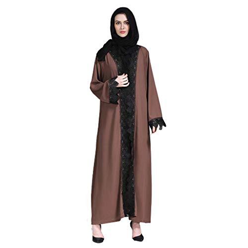 ize Celebrity Windnaht Langarm-Strickjacke - Sommerkleid Abendkleid Abendkleid Islamische Kleidung Abaya Dubai M-XXL ()