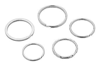 Wedo 26230015 Anneau porte-clés en métal 15 pièces assorties