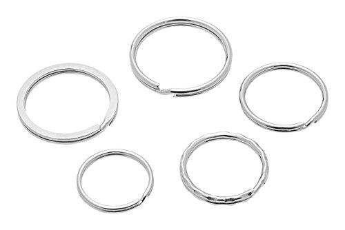 Preisvergleich Produktbild Wedo 26230015 Schlüsselringe Metallringe Sortiment in verschiedenen Größen sortiert,  15 Stück,  silber