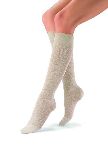 Jobst SoSoft, Knie High Compression Socken, Brokat, 20-30mmHg, XL, Sand Brocade, 1 -