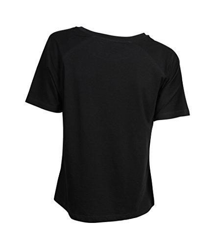 GRETA & LUIS Damen Premium-Kurzarmshirt Fabia in Schwarz Negro
