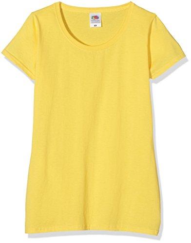 Fruit of the Loom SS079M, Camiseta para Mujer, Amarillo (Yellow), 38 (Talla del Fabricante: Small)