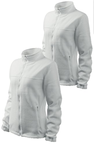 Confezione da 2felpa in pile giacca in pile Outdoor Donna, bianco, S