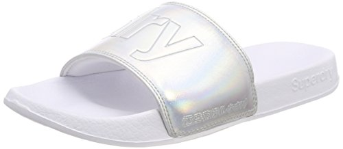 Superdry Pool Slide, Tongs Femme Multicolore (Iridescent Silver NP8)