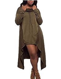 1b474b0c73c Starsace Vestido de Sudadera con Capucha de Manga Larga con Capucha  Irregular para Mujer