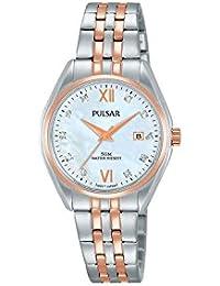 Seiko Pulsar Reloj Mujer Acero Bicolor nácar Cristales ph7458 ...
