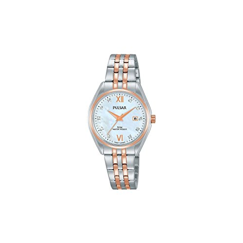 Seiko Pulsar Reloj Mujer Acero Bicolor nácar Cristales ph7458X 1