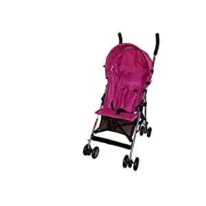 Babyco Trend Light Weight Stroller (Pink)  UNIQUE SHAPE DESIGN Adopt unique safety design concept to make the stroller frame more stable and safe; Reinforced double steel springs absorbing vibrations ensure the safety of your baby's brain and bones FRIENDLY MATERIAL Lycra /Oxford fabric fabrics are durable and dirt-proof, easy to clean; Rust-proof frame is fire retardant, folding easily. solid wheels are wear-resistant, explosion-proof and shock-absorbing. QUICK-ADJUSTING : Adjustable canopy,Adjustable handlebar meet the demands of people in different height, do not need to bend over; One-step braking and release braking 11