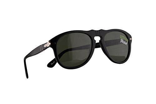 Persol PO0649S Sonnenbrille Schwarz Mit Polarisierten Grünen Gläsern9558 54mm PO 0649 PO0649-S 649S 649-S PO 649