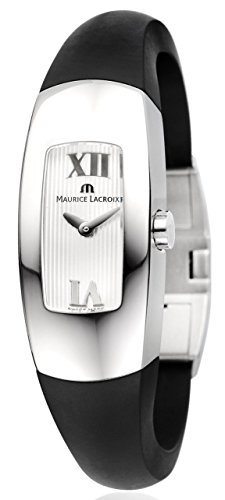 Maurice Lacroix Intuition in3022de SS001–110–1–Reloj de pulsera para mujer reloj de pulsera caja acero inoxidable correa caucho natural negro cierre Acero Inoxidable Cristal de zafiro swiss made ETA de cuarzo