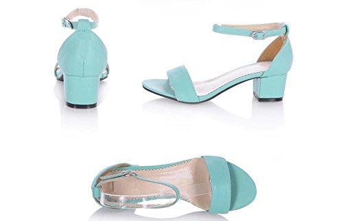 NobS Sandali Per Donne Large Size 31-43 Dimensioni Tacchetto Spillo Cinturino Alla Caviglia Con Fibbia Sandali Ragazze Scarpe Estate Blue