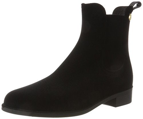 Lemon Jelly Damen Velvety Chelsea Boots, Schwarz (Black), 38 EU (Damen Jelly)
