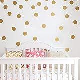Gold Polka Dot Stickers - Stickers muraux à pois or - filles Appliques Circle Dots Décor autocollants 112 chambre à coucher Art s'accroche