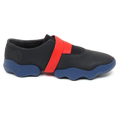 Camper D8830 (sans Boîte) Sneaker Donna Nero / Chaussure Blu Scarpe Femme Blu / Nero
