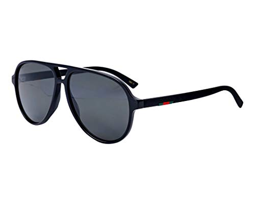 Gucci Sonnenbrillen (GG-0423-S 002) glänzend schwarz - matt schwarz - grau polarisierte