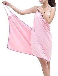 Axcellent Mujer Toalla de Baño Albornoces Portátil Microfibra Albornoz Ropa de Dormir SPA Bath Wrap Shower