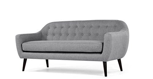 FabHomeDecor Adele Three Seater Sofa (light grey)