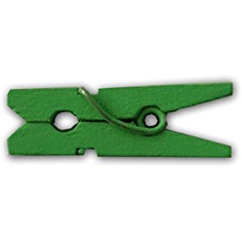 LWR Crafts 100por paquete Mini Pinzas de la ropa de madera 1