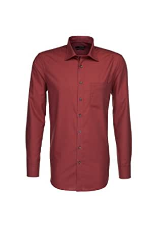 Seidensticker Herren Classic Long – regular Shirt Gr. Kragenweite: 50 , Brown - braun (0026)