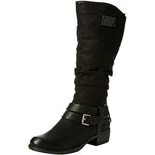 Rieker 93158 Damen Langschaft Stiefel, schwarz (schwarz/schwarz/schwarz/00), 42