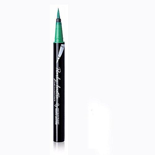 Eyeliner-Liquid,Eyeliner Pen Maquillage Cosmétique,,Eyeliner Waterproof,PowerFul-LOT Beauté Noir Étanche Eyeliner Liquide Eye Liner Stylo Crayon Maquillage Cosmétique Nouveau (Vert)