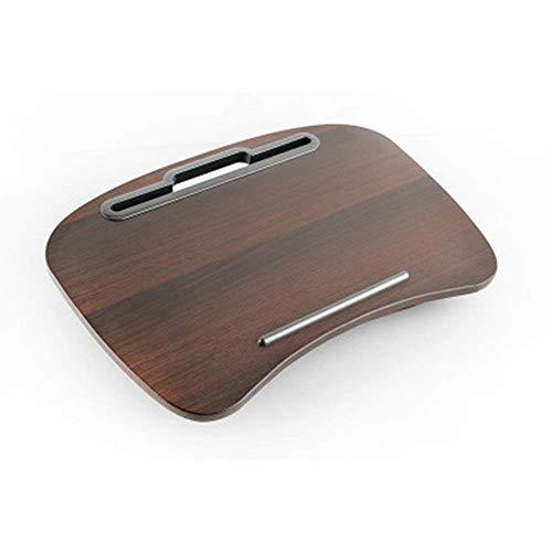 stts Faule Tisch-Laptop-Schreibtisch-tragbarer Multifunktions-Kissen-Computer-Schoss-Stand, Schreibens-Leseknie-Auflage, Ipad-Tablette, bewegliches Handkissen, runder Walnuss-Abwehr-Raum -