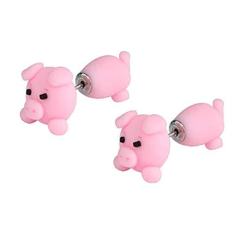 Tresar Ohrringe für Kinder Mädchen Soft Clay Tropfen Geschenk für Mädchen Freundin Schwein 4,5 cm