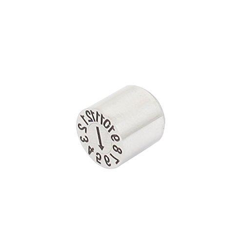 DealMux Edelstahl Anzahl 12.01 Mold Datumsstempel Einsätze Silber Ton 10mm