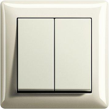 GIRA System 55 cremeweiß (1x Serienschalter, 1x Rahmen 1fach, 1x Wippe Serie)
