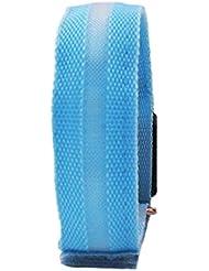 Namsan luz LED Muñequera sudadera segura Senderismo / Correr Intermitente Sudadera de muñeca, Nacht Bicicleta Jogging Reflectante muñequera sudadera ajustables Visible amantes del aire libre Iluminación Hip-Hop Performance Apoyos, 7 Colores disponible - Azul, 1 unidad