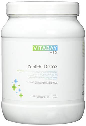 Zeolith Detox Pulver - Medizinprodukt zur Entgiftung 95{9075529ab277716557628b8fd7ed073896b85669140a0247e54540c577abcbb1} Klinoptilolith 500 g