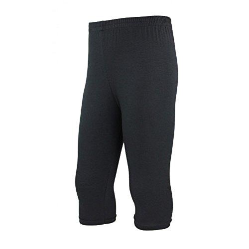 TupTam Mädchen Leggings 3/4 Capri Baumwolle Blickdicht, Farbe: Schwarz, Größe: 140